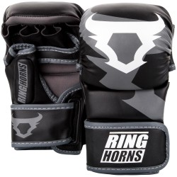 VENUM RINGHORNS Charger MMA Sparinga Cimdi - Melns