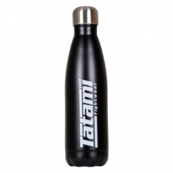 Ūdens pudele melna ar baltu logo