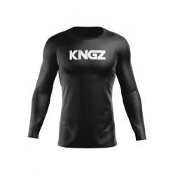 KINGZ Black Friday kompresijas krekls melnā/baltā krāsā
