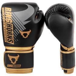 Ringhorns Charger MX boksa cimdi melna/zelta krāsā