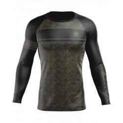 Kingz Digital Camo kompresijas krekls melns/haki krāsā