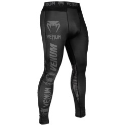 Venum Logos Tights compression pants black/grey