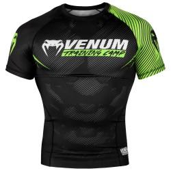 VENUM TRAINING CAMP 2.0 kompresijas krekls ar īsām piedurknēm melnā/elektro dzeltenā krāsā