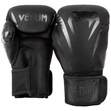 Venum Impact boksa cimdi melnā krāsā