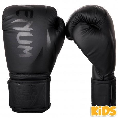 Venum Challenger 2.0 bērnu boksa cimdi melnā krāsā