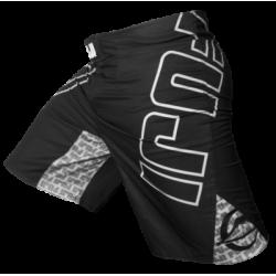 FUJI Sports Inverted Board cīņas šortri melnā/baltā krāsā
