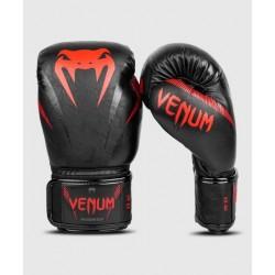 Venum Impact boksa cimdi melnā/sarkanā krāsā