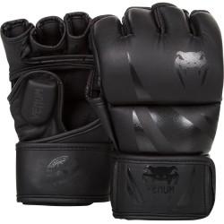 VENUM CHALLENGER MMA cimdi - matēti melnā krāsā