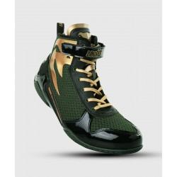 VENUM GIANT LOW LINARES izlaiduma boksa apavi melnā/zaļā/zelta krāsā