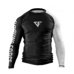 GROUND FORCE RANK kompresijas krekls melnā/baltā krāsā