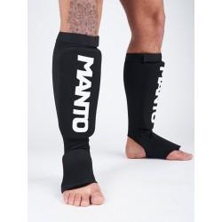 Manto LOGOTYPE kāju aizsargi melnā/baltā krāsā