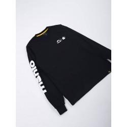 Manto x TEMNYi T-krekls ar garām rokām melnā krāsā