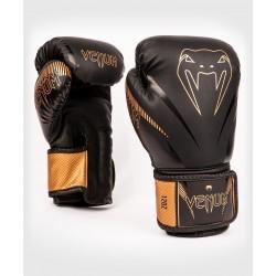 Venum Impact boksa cimdi melnā/bronza krāsā
