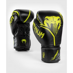 VENUM CONTENDER 1.2 boksa cimdi melnā/dzeltenā krāsā