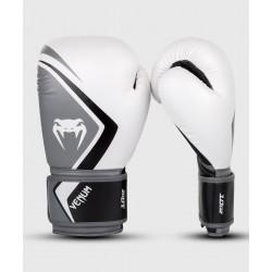 VENUM CONTENDER 2.0 boksa cimdi  baltā/pelēkā/melnā krāsā