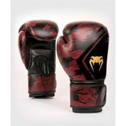 VENUM DEFENDER CONTENDER 2.0 boksa cimdi melnā/sarkanā krāsā