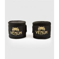 Venum kontact boksa saites (4 metri) - melnā/zelta krāsā