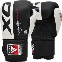 RDX S4 ādas boksa cimdi melnā krāsā