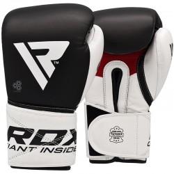 RDX S5 ādas boksa cimdi melnā krāsā